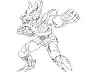 chevalier du zodiaque dessin à colorier