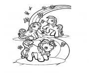 chevaux et poneys dessin à colorier