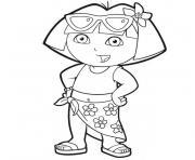 Coloriage dora imprimer gratuit sur - Dora a la plage ...