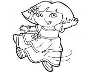 Coloriage dora la pirate dessin
