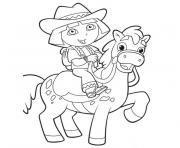 dora cheval dessin à colorier
