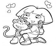 Coloriage dora et ses amis dessin