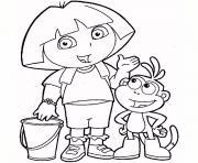 Coloriage dora imprimer dessin sur - Dora jeux info ...