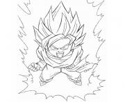Coloriage dragon ball z sangoten