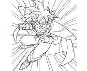 Coloriage dragon ball z sangohan