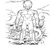 Coloriage dragon ball z freezer