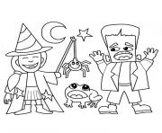 Coloriage halloween tv