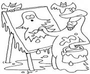 Coloriage halloween fantome