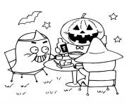 Coloriage halloween gs