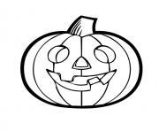 halloween de citrouille dessin à colorier