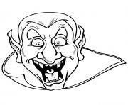 halloween dracula dessin à colorier