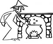halloween en anglais dessin à colorier