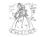 halloween princesse dessin à colorier