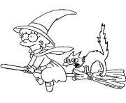halloween des simpson dessin à colorier