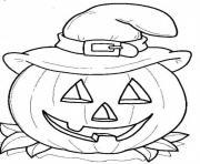 halloween en couleur dessin à colorier