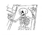 halloween mort vivant dessin à colorier