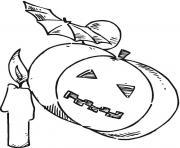 halloween citrouille dessin à colorier