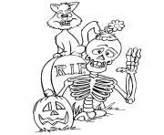 halloween qui fait peur dessin à colorier