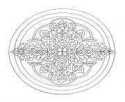 Coloriage coloring free mandala difficult adult to print heart  dessin