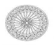 mandala lettre dessin à colorier