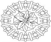mandala difficile 6 dessin à colorier