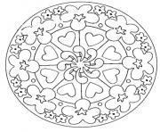 Coloriage mandala difficile 27 dessin