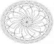 mandala difficile 13 dessin à colorier