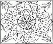 mandala difficile 16 dessin à colorier