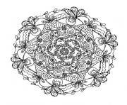 mandala complexe dessin à colorier