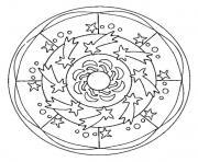 mandala en ligne dessin à colorier
