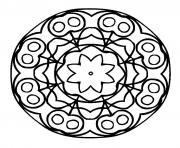 mandala difficile 29 dessin à colorier