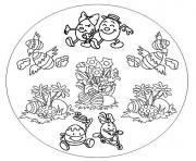 mandala oeuf de paques dessin à colorier
