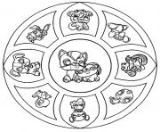 Coloriage coloring free mandala difficult adult to print 7  dessin