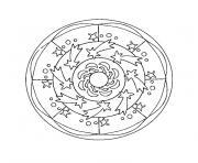 mandala dessin à colorier