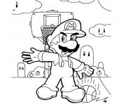 Coloriage mario basket
