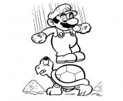 Coloriage tv mario