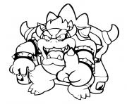 Coloriage mario bowser