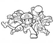 mario et ses amis dessin à colorier