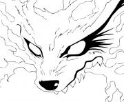 Coloriage naruto demon renard