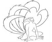 naruto kyubi dessin à colorier