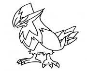 Coloriage pokemon etouraptor