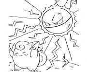 Coloriage pokemon Ash Brock dessin
