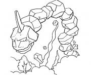 pokemon onix dessin à colorier