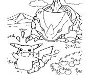 Coloriage pokemon fort