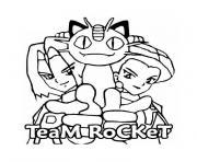 pokemon team rocket dessin à colorier