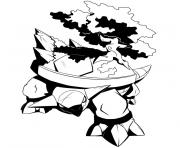Coloriage pokemon torterra