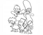 Coloriage les simpson horror show