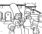 Coloriage Homer Simpson est etrangle dessin