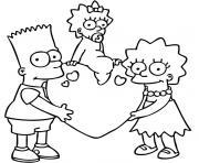 Coloriage Homer se tient la tete entre les mains dessin