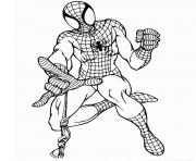 Coloriage spider-man marvel comics